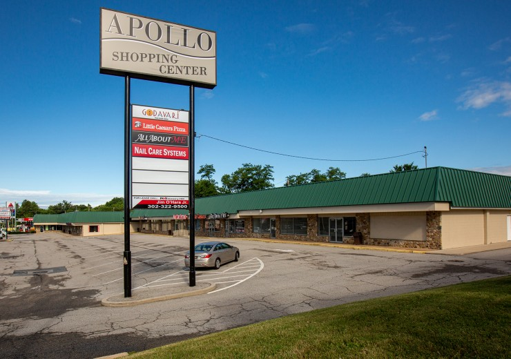 Apollo Shopping Center  |  3613 Kirkwood Highway  |  Wilmington, DE  |  Retail, Strip Center  |  5,200 SF For Lease  |  3 Spaces Available